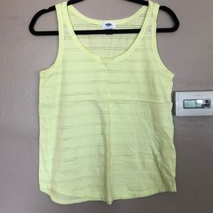 Old Navy light lime green tank top